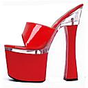 olcso Női topánkák és vászoncipők-Női Papucsok & Balerinacipők Tűsarok Köröm Csat PU Klasszikus / minimalizmus Tavasz / Ősz Fekete / Átlátszó / Fehér / Party és Estélyi