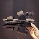 baratos Botas Masculinas-Homens Sapatos Confortáveis Pele Verão Sandálias Preto