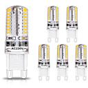 Χαμηλού Κόστους LED Bi-pin Λαμπτήρες-zdm 6pcs g9 οδήγησε λαμπτήρες 3w 30w ισοδύναμο αλογόνου 250lm 64λεπτά μη dimmaable g9 βολβοί για οικιακό φωτισμό ac220v