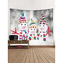 billige Wall Tapestries-Jul / Ferie Veggdekor polyester Moderne / Nyttår Veggkunst, Veggtepper Dekorasjon