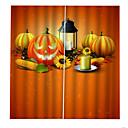 billige Andre strømdrevne verktøy-3d digtal printing blackout vindusgardiner spesiallagde for stue / soverom halloween dem gresskarlyktene bakgrunnsgardin