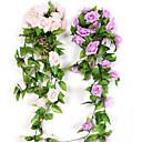 billige Bil-DVR-79 (tomme) rose rotting / kunstige blomster 2 grener vegghengende bryllupshage roseplante vegghengende blomster