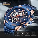 ราคาถูก นาฬิกาข้อมือ-NAVIFORCE สำหรับผู้ชาย นาฬิกาแนวสปอร์ต ญี่ปุ่น นาฬิกาอิเล็กทรอนิกส์ (Quartz) สไตล์สมัยใหม่ กีฬา สแตนเลส ดำ / ฟ้า / เงิน 30 m กันน้ำ ปฏิทิน โครโนกราฟ ระบบอนาล็อก ภายนอก กองทัพบก - Rose Gold Black