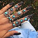 billige Fashion Rings-Dame Ring Set 11 deler Sølv Legering Gave Smykker