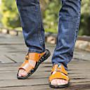 Χαμηλού Κόστους Αντρικά Πέδιλα-Ανδρικά Παπούτσια άνεσης Μικροΐνα Ανοιξη καλοκαίρι Σανδάλια Μαύρο / Λευκό / Κίτρινο