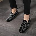 Χαμηλού Κόστους Ανδρικά Φορετά & Μοκασίνια-Ανδρικά Suede παπούτσια Σουέτ Ανοιξη καλοκαίρι / Φθινόπωρο & Χειμώνας Καθημερινό / Κολεγιακό Μοκασίνια & Ευκολόφορετα Περπάτημα Αναπνέει Μαύρο / Τεχνητό διαμάντι / Αστραφτερό Γκλίτερ