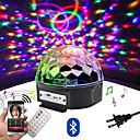 ราคาถูก ไฟเวที-Loende 9 สี led บลูทู ธ ลำโพงดิสโก้บอลแสงด้วยเครื่องเล่น mp3 พรหมเลเซอร์พรรคแสง 18 วัตต์ดีเจเวทีแสงเลเซอร์ฉายโคมไฟ