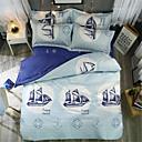 povoljno Luksuzni poplune-Poplun Cover Sets Luksuz / Suvremeno Polyster S printom 4 komadaBedding Sets