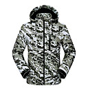 cheap Projectors-Men's Hiking Fleece Jacket Winter Outdoor Camo Windproof Fleece Lining Breathable Warm Jacket Top Softshell Camping / Hiking / Caving Traveling Army Green / Grey / Black / White / Quick Dry