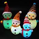 baratos Luzes LED de Dois Pinos-1 pc natal levou boneco de neve luz da noite boneco de neve bonito em forma de brilho popular no escuro para crianças cor aleatória
