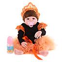 Χαμηλού Κόστους Εκτυπώσεις-NPK DOLL Κούκλες σαν αληθινές Αναγεννημένη κούκλα για μικρά παιδιά Μωρά Αγόρια Μωρά Κορίτσια 20 inch Σιλικόνη - Ασφάλεια Δώρο Χαριτωμένο Παιδικά Γιούνισεξ / Κοριτσίστικα Παιχνίδια Δώρο