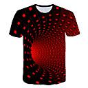 billiga Cykelbudsväskor,Ryggsäckar & Magväskor-Tryck, Geometrisk / Färgblock / 3D T-shirt - Grundläggande / Streetchic Herr Svart
