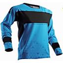 povoljno Biciklističke majice-Muškarci Dugih rukava Biciklistička majica Downhill Jersey Plava Geometic Bicikl Biciklistička majica Odjeća za motocikle Majice Ugrijati Vjetronepropusnost Prozračnost Sportski Zima 100% poliester