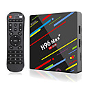 billige TV-bokser-h96 max pluss smart tv-boks android 9.0 rk3328 4k mediaspiller quadcore 4 gb ram 64 gb rom android 8.1 rockchip set top box 2.4g / 5g wifi h.265 h96max + tvbox usb3.0 bt