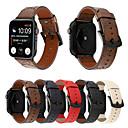 baratos Fantasias do Mundo Antigo-estilo vintage imprime couro genuíno 40mm 44mm 38mm 42mm pulseira para apple watch iwatch pulseira de relógio de pulso pulseira série 1 2 3 4