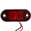 billige Øyenskygger-2,5 rød LED-lampe 2 diode oval form klaring sidemarkeringslampe trailer sidelys
