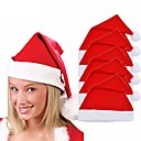 billige Julepynt-5stk voksne barn xmas red caps santa novelty hat for christmas party christmas party chapeau hat