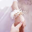 baratos Bouquets de Noiva-Bouquets de Noiva Flor Artificial Festa de Casamento Fibra 0-10 cm