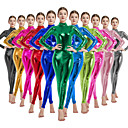 cheap Zentai Suits-Zentai Suits Cosplay Costume Catsuit Adults' Latex Spandex Lycra Cosplay Costumes Sex Men's Women's Green / Purple / Blushing Pink Solid Colored Halloween Carnival Masquerade / Skin Suit / Skin Suit