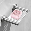 billige Baderomshyller-bad hylle arrangør rustfritt stål såpe oppvask veggmontering dusj toalett såpe rack bad såpe holder tallerken