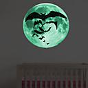 povoljno Zidne naljepnice-Dekorativne zidne naljepnice - Svjetleće zidne naljepnice / Naljepnice za zidne zidove Pejzaž / Halloween Stambeni prostor / Spavaća soba / Kuhinja