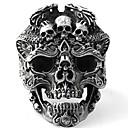 ราคาถูก แหวนผู้ชาย-สำหรับผู้ชาย แหวน 1pc สีทอง สีดำ สีเงิน โลหะผสม ผิดปกติ วินเทจ Punk อินเทรนด์ ทุกวัน เครื่องประดับ สไตล์วินเทจ Skull