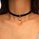 povoljno Modne ogrlice-Žene Choker oglice Klasičan Tekstil Crn 42+7 cm Ogrlice Jewelry 1pc Za Dnevno