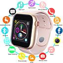 voordelige Smartwatches-Heren Smart horloge Digitaal Sportief Stijlvol Silicone Zwart / Wit / Roze 30 m Waterbestendig Bluetooth Smart Digitaal Modieus - Zwart Gouden + Black Wit Een jaar Levensduur Batterij