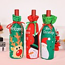 ราคาถูก อุปกรณ์เสริมไวน์-3 ชิ้นอุปกรณ์เสริมคริสต์มาสไวน์ขวดซานตาคลอส s nowman ฝาขวดตั้งปีใหม่กระเป๋าอาหารค่ำวันคริสต์มาสตกแต่งคริสต์มาส