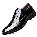 baratos Abotoaduras-Homens Sapatos de couro Couro Primavera / Outono & inverno Formais Oxfords Não escorregar Preto