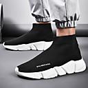 Χαμηλού Κόστους Αντρικά Αθλητικά-Ανδρικά Παπούτσια άνεσης Φουσκωτό πηνίο Ανοιξη καλοκαίρι Καθημερινό Αθλητικά Παπούτσια Αναπνέει Σύνθημα Μαύρο / Μαύρο / Άσπρο / Κόκκινο