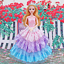 ราคาถูก อุปกรณ์ตุ๊กตา-ชุดเดรส-ชุดแต่งงานทรง Princess-ผ้าซาติน / ประดับลูกไม้