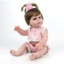 billige Reborn-dukker-NPK DOLL Reborn-dukker Reborn Toddler Doll Babygutter Babyjenter 22 tommers Silikon - Verneutstyr Gave Søtt Barne Unisex Leketøy Gave