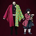 povoljno Anime kostimi-Inspirirana Ubojica demona: Kimetsu no Yaiba Cosplay Anime Cosplay nošnje Japanski Cosplay Suits Kaput / Hlače / Remen Za Muškarci / 1 paket