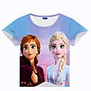 baratos Fantasia de Dança-Infantil Bébé Para Meninos Básico Estampado Estampado Manga Curta Camiseta Arco-íris