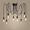 ราคาถูก โคมไฟระย้า-8-Light โคมไฟระย้า Ambient Light ทาสีเสร็จสิ้น โลหะ สไตล์เทียน 110-120โวลล์ / 220-240โวลต์ ไม่รวมหลอดไฟ / E26 / E27