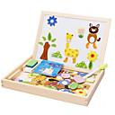 billiga Läsleksaker-Muwanzi Teckningsleksak Leksaksritplattor Byggklossar Träpussel Magnetic Easel Utbildningsleksak Fyrkantig Magnet Barn Present