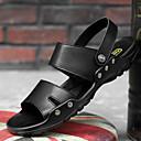 povoljno Muške sandale-Muškarci Udobne cipele PU Ljeto Sandale Prozračnost Crn