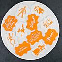 billige Øyenskygger-11 deler Silikon Gummi Halloween Originale kjøkkenredskap Pieverktøy Bakeware verktøy