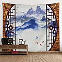 billige Wall Tapestries-Hage Tema / Klassisk Tema Veggdekor 100% Polyester Klassisk / Vintage Veggkunst, Veggtepper Dekorasjon