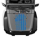 billige Setetrekk til bilen-bil utvendige hette klistremerker usa flagg dekal vinyl auto dekorasjon klistremerke modeller 51 * 90 cm
