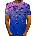 povoljno Ogrlice-Majica s rukavima Muškarci - Ulični šik / pretjeran Dnevno / Plaža Color block / 3D Print Navy Plava