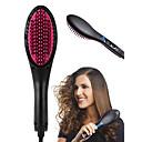 Χαμηλού Κόστους Περιποίηση Μαλλιών-1 τεμάχιο κεραμικό ίσιωμα ηλεκτρική πινέλο βούρτσα μαλλιά ίσιωμα χτένα απλά ευθεία μαλλιά εργαλείο
