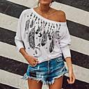 billige Crossbody-vesker-T-skjorte Dame - Grafisk, Lapper / Trykt mønster Grunnleggende Svart