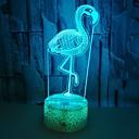baratos Peças de Motos e Quadriciclos-flamingo luz visual colorida usb 3d led toque 3d ilusão de luz luz estéreo