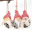 billige Julepynt-Julepynt Jul Bomullsstoff Mini Tegneserie julen Dekor