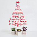 Χαμηλού Κόστους Christmas Stickers-Διακοσμητικά αυτοκόλλητα τοίχου - Αεροπλάνα Αυτοκόλλητα Τοίχου / Διακοπών Αυτοκόλλητα Τοίχου Χριστούγεννα Υπνοδωμάτιο / Τραπεζαρία