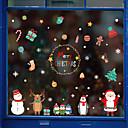 זול מדבקות קיר-סרט חלון קריקטורה חמוד לחג המולד&מגבר; מדבקות קישוט בדוגמת / חג המולד גיאומטרי / pvc אופי (פוליוויניל כלוריד) מדבקת חלון / מדבקה לדלת