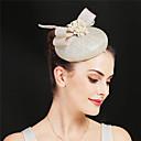 Χαμηλού Κόστους Διακοσμητικά Γάμου-Γούνα Στρουθοκαμήλου / Μαργαριτάρι / Μείγμα Λινο / Βαμβάκι Κεφαλές / Λουλούδια με Φτερό / Πέταλα / Φλοράλ 1 Τεμάχιο Πάρτι / Βράδυ / Belmont Stakes Headpiece