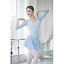 billiga Danskläder till balett-Balett Outfits / Unitards Dam Träning / Prestanda Nylon Kombination 3/4 ärm Hög Trikå / Onesie / Byxor